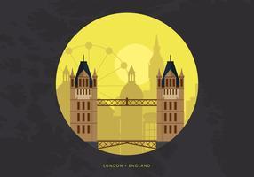 Skyline da cidade de Londres com edifícios famosos vetor