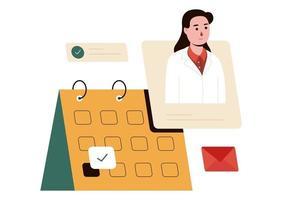 ilustração vetorial de consulta médica vetor