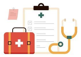 ilustração vetorial de prescrição médica vetor