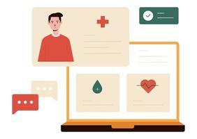 ilustração vetorial de monitoramento de saúde vetor