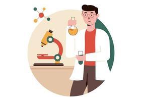 ilustração vetorial de teste de laboratório vetor