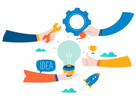 Idéia, pensamento, desenvolvimento de conteúdo