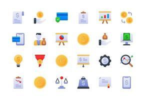 conjunto de ícones de gradiente de finanças e contabilidade vetor