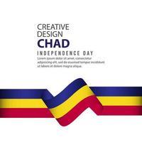 modelo de vetor ilustração design criativo celebração do dia da independência chad