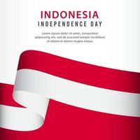 celebração do dia da independência da Indonésia, ilustração do modelo do vetor do conjunto de bandeiras