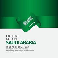Arábia Saudita Dia da Independência celebração modelo de vetor ilustração design criativo
