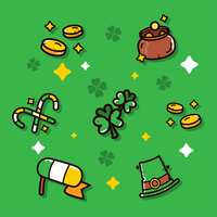 Conjunto de vetores de clipart de dia de St. Patrick