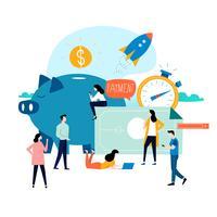Serviços de negócios e finanças vetor