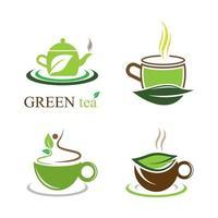 imagens do logotipo da xícara de chá vetor