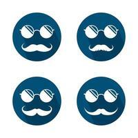 ilustração das imagens do logotipo dos óculos vetor