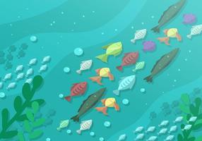 Fundo do oceano vetor