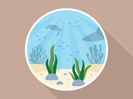 Vetor de fundo impressionante oceano