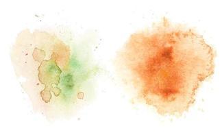 manchas de aquarela, fundo aquarela abstrato. ilustração vetorial. vetor