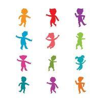 ilustração em vetor conceito crianças