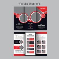 modelos de design de brochura com três dobras de comida biryani vetor