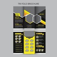 menu de comida de restaurante modelo de design de brochura com três dobras vetor