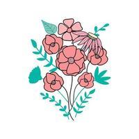 ilustração em vetor plana buquê de flores
