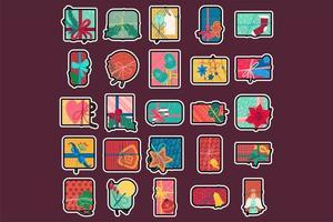 ilustração em vetor plana colorida caixas de presentes de natal