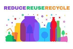 perigo de resíduos de plástico. poluição e proteção ecológica vetor