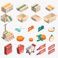 ilustração do conceito de ícone de entrega gráfica de informação vetor