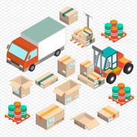 ilustração do conceito de carro de entrega gráfica de informação