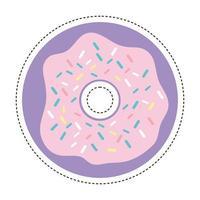 Remendo de donut dos anos 80 vetor