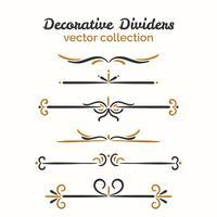 Elementos decorativos ornamentais vetor