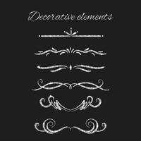 Conjunto de elementos decorativos ornamentais vetor