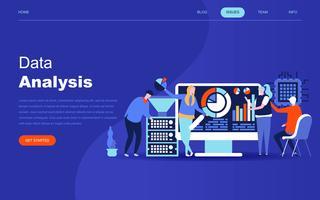 Conceito moderno design plano de análise de Big Data