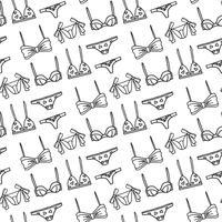 Conjunto de Lingerie de mão desenhada vetor