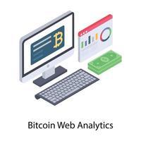 bitcoin web analytics vetor