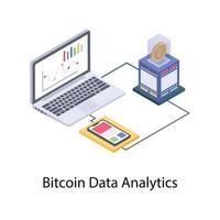 análise de dados bitcoin vetor