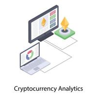 análise de dados de criptomoeda vetor