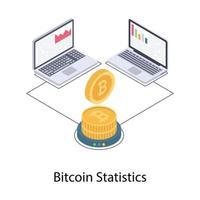 estatísticas e dados bitcoin vetor