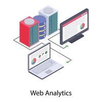 análise e dados da web vetor
