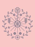 Bela flor Clipart Set Vector