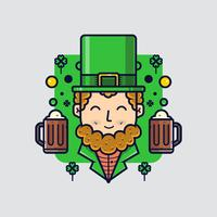 St.Patricks day clipart Leprechaun vetor