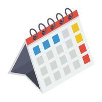 calendário de compromissos vetor