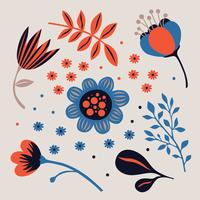 Pacote de clipart de flor vetor