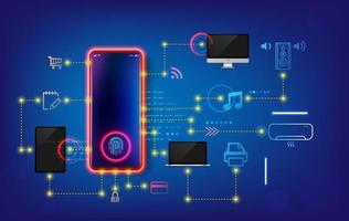 desenvolvimento de casa inteligente e sistema iot. instalação e configuração de cenários de trabalho internet das coisas em casa. vetor