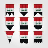 Bandeira do Iraque em diferentes formatos, bandeira do Iraque em vários formatos vetor