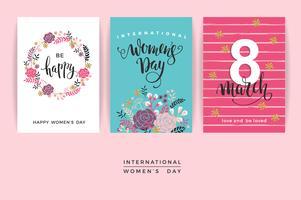 Dia Internacional da Mulher. Modelos de vetor.