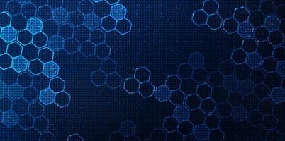 rede de circuito digital futurista sobre fundo azul, design de conceito de tecnologia de futuro e velocidade, ilustração vetorial vetor