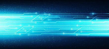 luz azul de velocidade futura em fundo de tecnologia de circuito de microchip, design de conceito digital e de internet de alta tecnologia, espaço livre para entrada de texto vetor