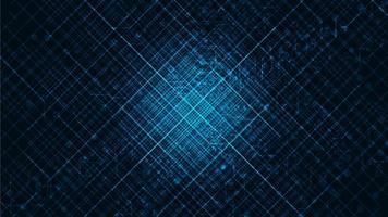big data com microchip de circuito em fundo de tecnologia, design de conceito de alta tecnologia e segurança, espaço livre para entrada de texto vetor