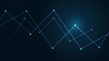 blockchain digital com linha de microchip em fundo de tecnologia, design de conceito de alta tecnologia e segurança, espaço livre para entrada de texto vetor