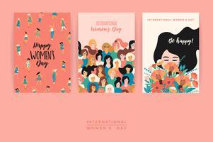 Dia Internacional da Mulher. Modelos de vetor. vetor