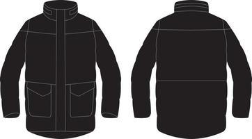 designs de jaqueta de elemento unissex vetor