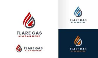 modelo de coleção de design de logotipo de fogo e chama vetor