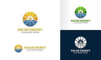 modelo de design de logotipo de painel solar e energia solar vetor